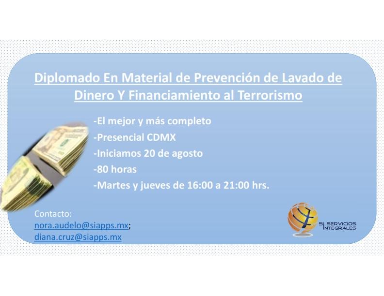 Diplomado Presencial Prevención Lavado de Dinero