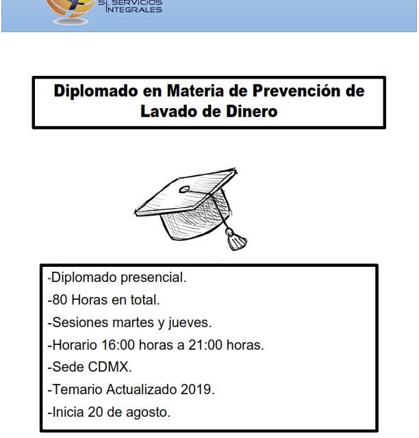Diplomado en materia de Prevención de Lavado de Dinero