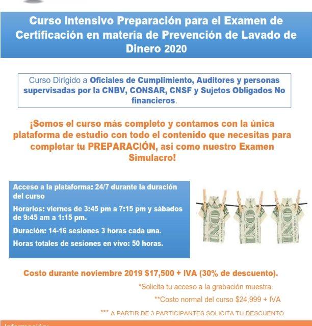 Curso Preparación para el Examen de Certificación PLD 2020