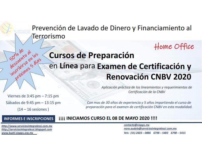 Curso de Prepración en Línea para el Examen de Certificación PLD