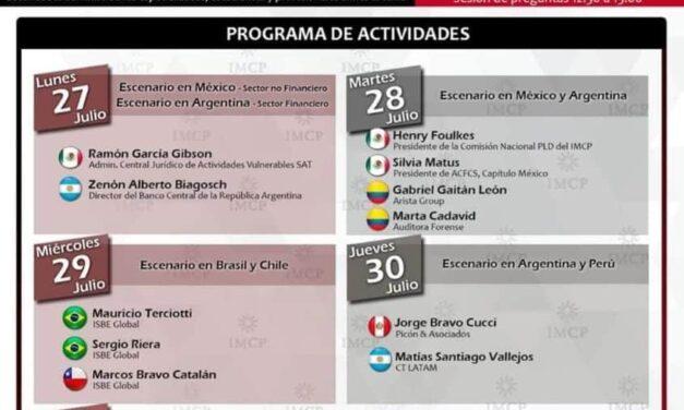 Primer jornada latinoamericana en prevención de lavado de dinero