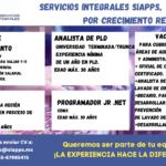 Vacantes: Servicios Integrales SIAPPS