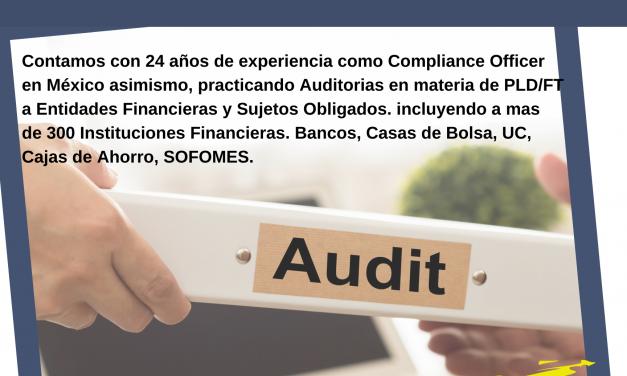 Promoción AUDITORIA 2021 incluye Capacitación para Certificación PLD